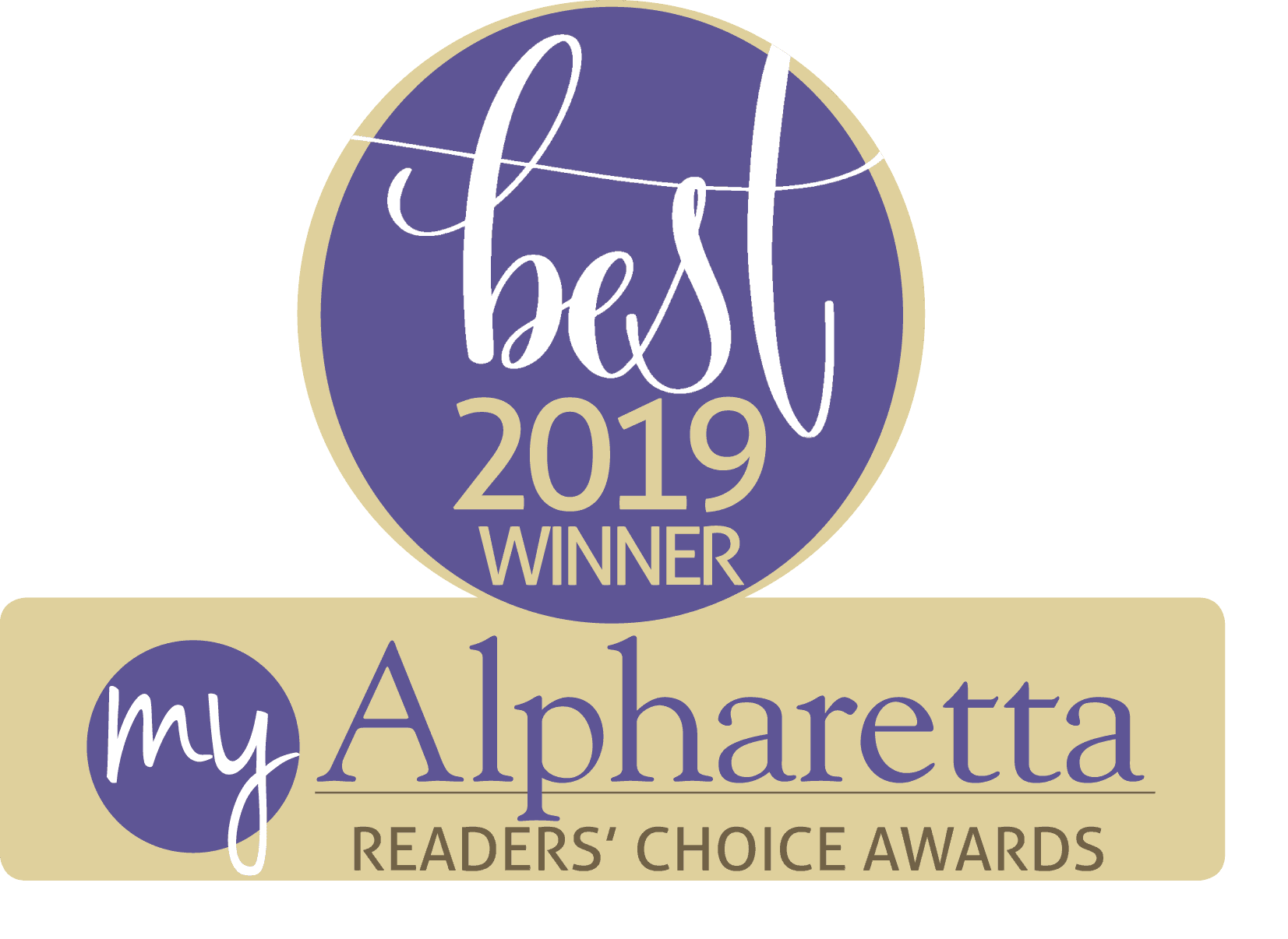 Best 2019 Winner - My Alpharetta Reader's Choice Awards